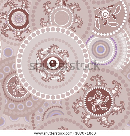 Trible seamless paisley abstract texture for design