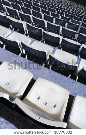 Tribune with stadium seats