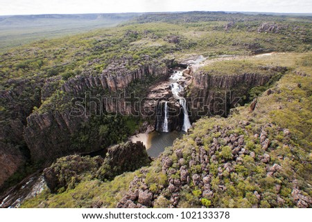 Tributary to Twin Falls and Jim Jim Fals  Kakadu National Park, Australia  N.T. Ariel images