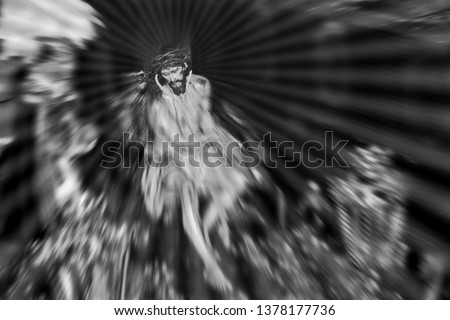 Tribute to Ansel Adams, jesus christ, black and white artistic photographs of religious motifs of Holy Week, jesus, easter processión, artistic photographs of religious motifs of Holy Week,easter week #1378177736