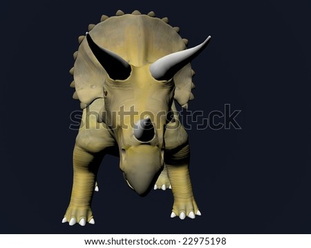 Triceratops an ancient jurassic extinct reptile Illustration