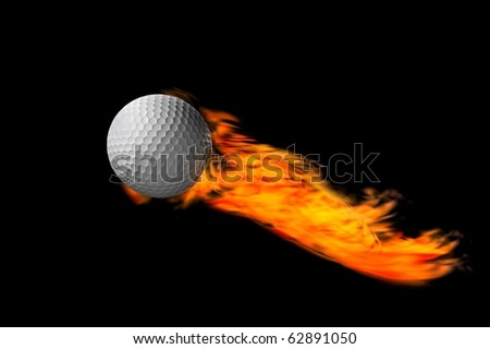trick or eplosive golf ball and concept fire render