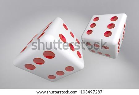 Tricky dice - stock photo