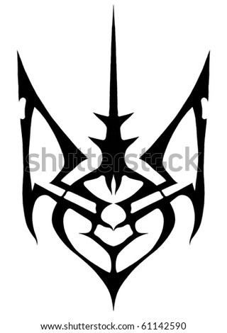 trident sign stylized