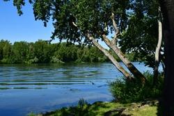 Triel sur Seine; France - june 1 2020 : the Seine riverside