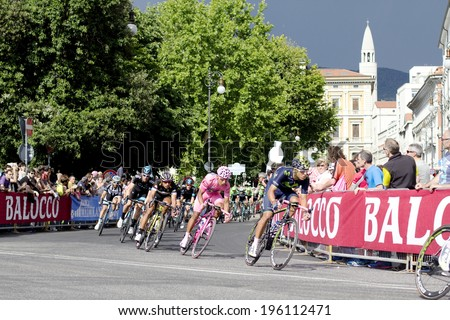 TRIESTE, ITALY - JUNE 1:cyclists to the final stage of the  \