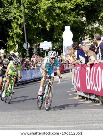 TRIESTE, ITALY - JUNE 1:Third classified italian Aru Fabio during  the final stage of the  \