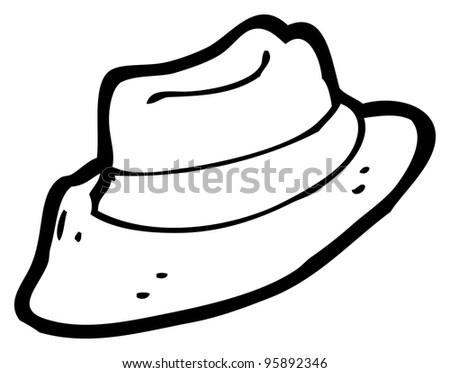 Trilby Hat Cartoon