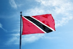 Trinidad and Tobago flag on the mast