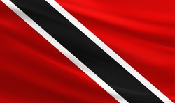 Trinidad and Tobago flag with fabric texture