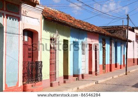 Trinidad, Cuba - the old town. UNESCO World Heritage Site. - stock photo