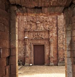 TRINIDAD DE PARANA JEZIUTES RUINS, PARAGUAY - NOV 27, 2014: Ruins of the Jesuit Guarani reduction La Santisima Trinidad de Parana, UNESCO World Heritage Site, Paraguay, South America
