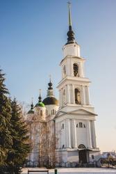 Trinity Church in winter, Russia, Chaplygin, Ranenburg