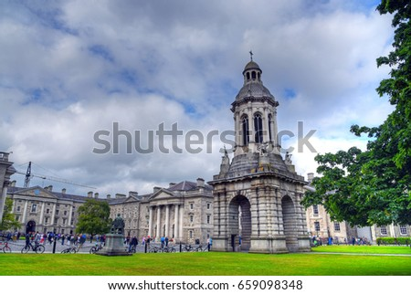 Trinity College Dublin, the University of Dublin, Ireland.