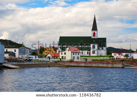 Trinity village and church in Newfoundland