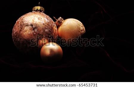 Trio of beautiful gold ornaments