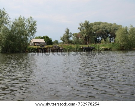 trip on water by canoe on the Dnieper #752978254