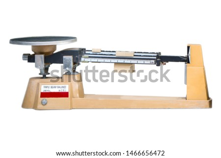 Triple beam balance in science laboratories isolated