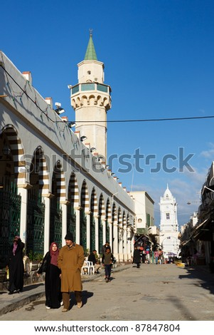 TRIPOLI, LIBYA - Jan 16, 2011: The famous Souq al-Mushir in Tripoli, Libya, on Jan 16, 2011. The market area is located in Tripoli's old town, the Medina.
