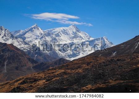 Trishool Moutaain In the Himalayas Stock photo ©