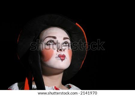 clown makeup designs. little Her clown make-up,