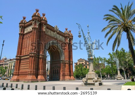 Triumph Arch of Barcelona, Spain