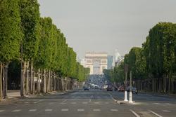 Triumphal arch and avenue des Champs-Élysées
