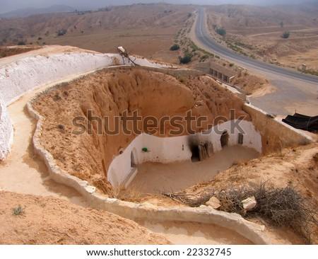 Troglodyte dwelling in Tunisia