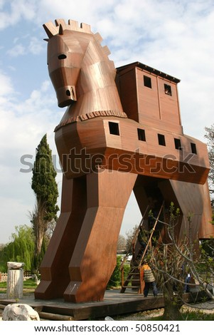 Trojan Horse, Troy - stock photo