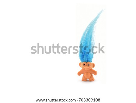 Troll or Elf on a white background