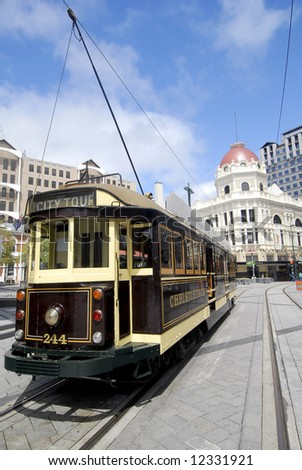 Trolley - Christchurch, New Zealand - stock photo