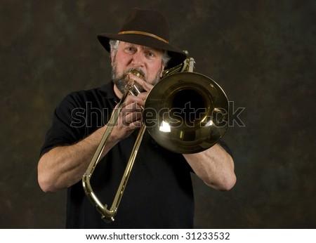 trombone - stock photo