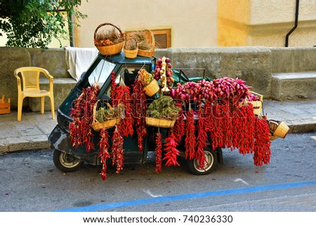 Tropea red chillies and onions #740236330