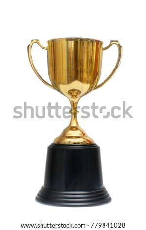 Trophy gold on white background #779841028