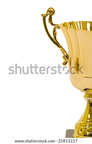 Trophy isolated on white background