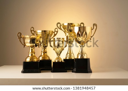 Trophy with successful education concept #1381948457