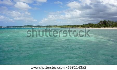 tropical bach near punta rusia in the dominican republic #669114352