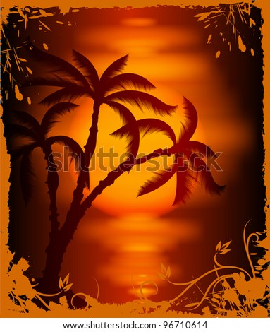 Tropical background. (raster copy)