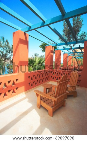 Tropical balcony with sea view (Egypt, El Gouna)