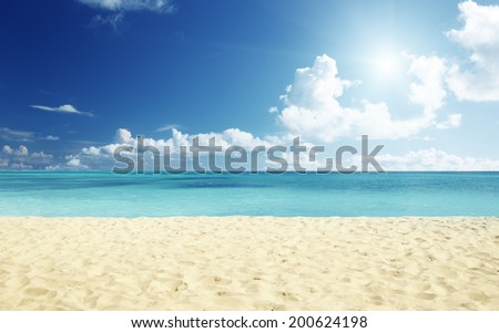 tropical beach - Shutterstock ID 200624198