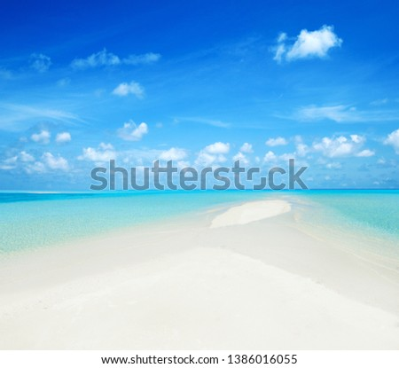 tropical beach and tropical sea #1386016055