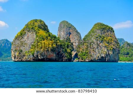 Tropical beach, Andaman Sea,Krabi Thailand