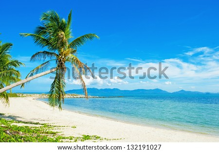 Tropical beach at Thailand - vacation background