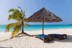 Tropical Beach at Zanzibar Island, Tanzania