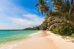 tropical beach. Beach on Ko Kood
