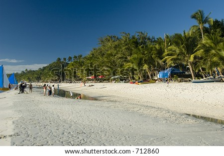 Tropical beach boracay in Philippines