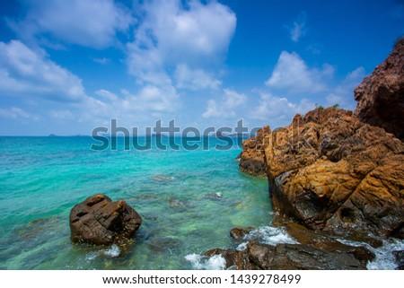 Tropical Beach Idyllic Landscape,Tropical Beach Idyllic Landscape #1439278499