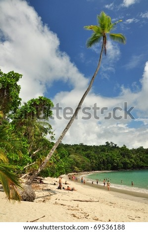 Tropical beach in Manuel Antonio National park of Costa Rica
