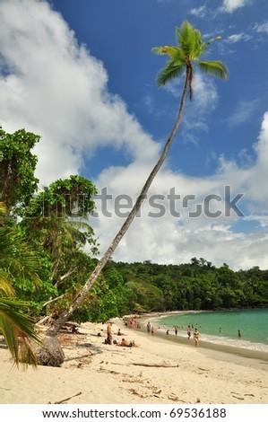 Tropical beach in Manuel Antonio National park of Costa Rica