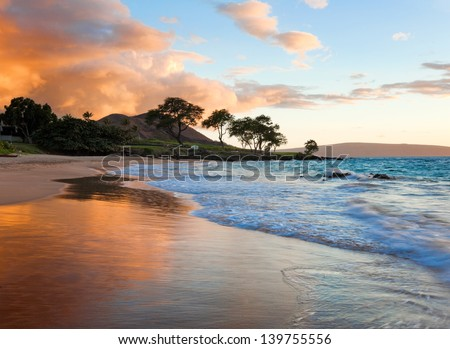 tropical beach in Maui, Hawaii